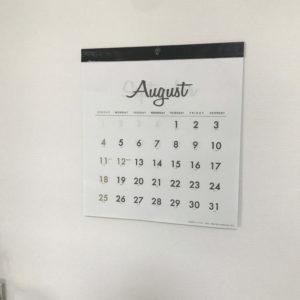 オシャレなフォントのカレンダー