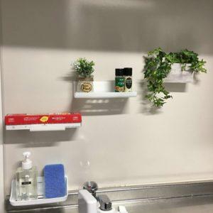 簡単DIYキッチンの壁を活用